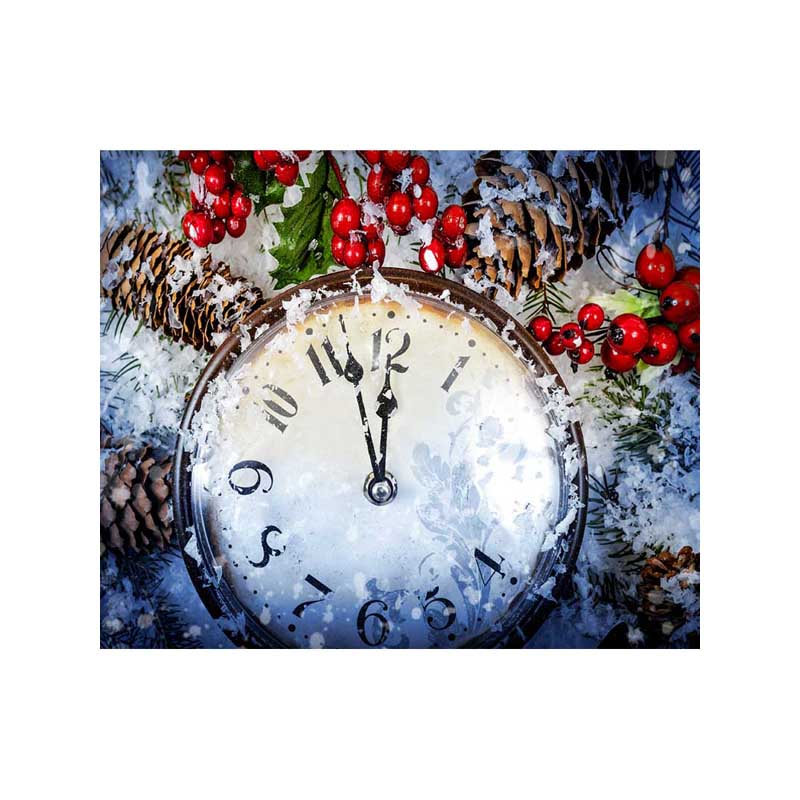 Christmas Day Clock Dial 7X5ft Photo Studio Props Children Baby Photography Background Digital Screen Vinyl Backdrop 200x400cm 7x14ft photo background studio vinyl backdrop screen digital printing newborn photography props f342