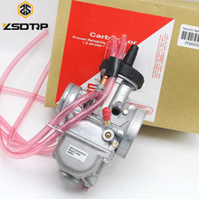 ZSDTRP 4T Engine 33 34 35 36 38 40 42mm PWK Keihin Carburetor Used at Off-road Motor Motocross Scooter with Good Power TRX250R alconstar universal quad vent carb pwk 33 34 35 36 38 40 42mm pwk38 as s66 38mm air striker for keihin caeburetor