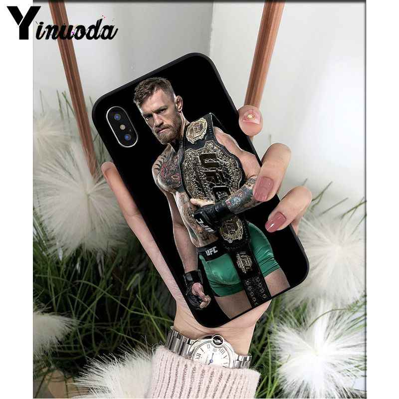 Yinuoda UFC Конор Макгрегор черный мягкий чехол для телефона iPhone 6 S 6 plus 7 8 плюс X Xs MAX 5 5S XR