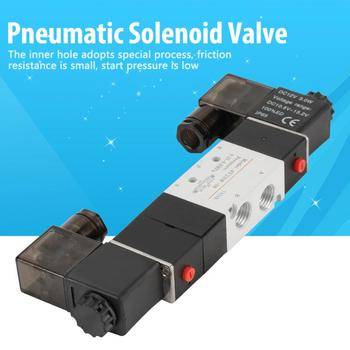 DC 12V BSP 14 Normally  3 Position 5 Way Pneumatic Solenoid Valve 0.15-0.8MPa 4V230-08P free shipping 4v230c 06 double coil 1 8 bsp 24v dc 5 3 way 5 port with plug led light
