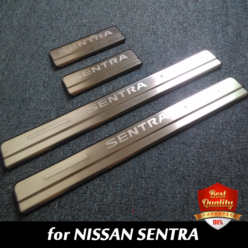 Stainless Steel Door Sill Scuff Plate Door Sill Threshold for NISSAN SENTRA 2012 2016