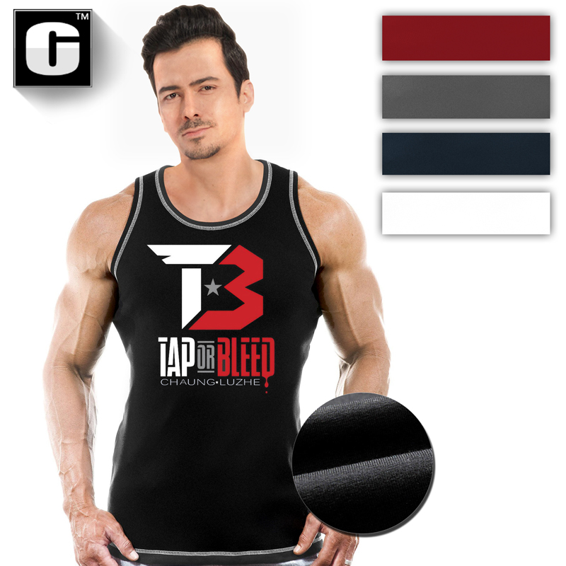 Gyms Tank Tops Bodybuilding Men Cotton Vest O-Neck Golds Gyms Tank Top Men Sleeveless Shirts Muscle Men Fitness Tops
