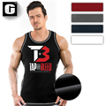 New Men's Fitness Male   wear Tap-or-Bleed Ribbed Tanktop fitness men summer stringer muscle bodybuilding    lifting tank tops