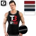 Novo desgaste da Aptidão Dos Homens Masculino Tap-ou-Bleed Com Nervuras Regata homens fitness verão muscle stringer musculação elevação tanque tops