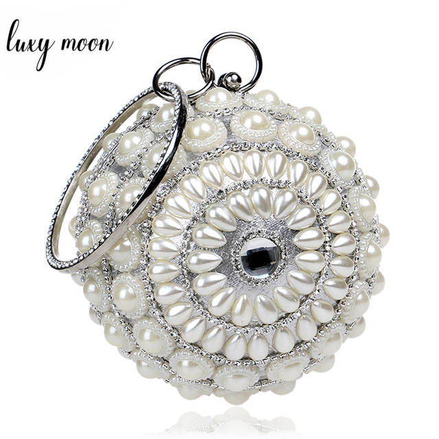 Hot Sale Round Shaped Female Clutch Bags Full Pearls Beaded Women Evening  Clutch Bag Crystal Wedding. placeholder ... 231a3fd958d6