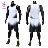 LUCXES basketball jerseys Boys breathable custom v neck men basketball uniforms college basketball suits DIY set Printing .88