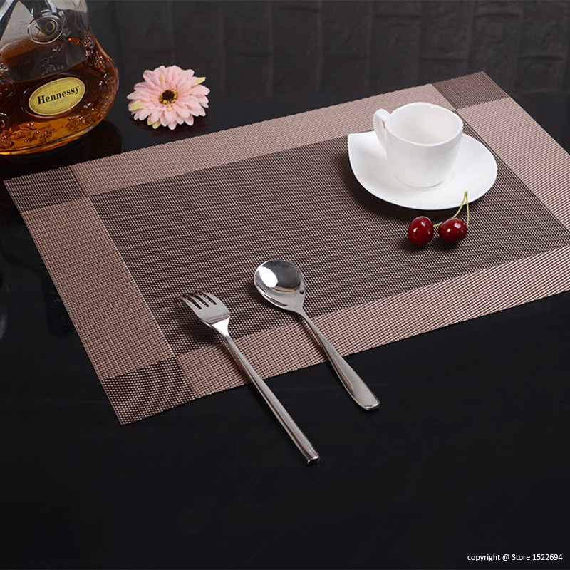 Table Placemats Resistant Anti skid Washable Table Mats Heat resistant Placemats Pack of 4PCS Table Place Mats 45x30CM Placemats in Mats Pads from Home Garden