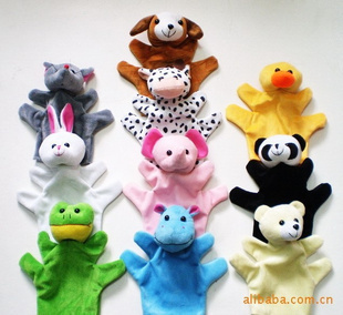 Free Shipping 2013 10pcs Cartoon Animal Plush Toys Hand puppet &Doll