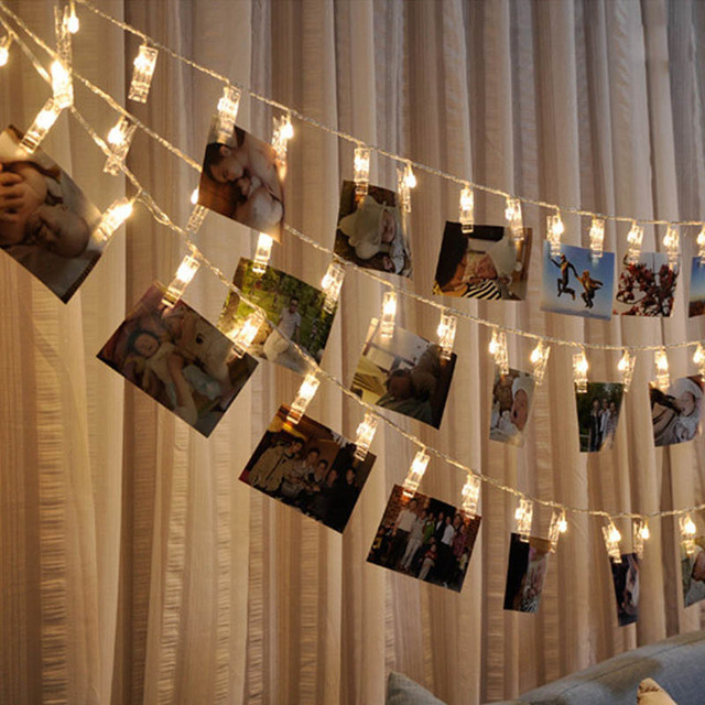 photo clips string lights christmas lights starry light wall decoration light for hanging photos paintings pictures