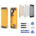 Replacement For iPhone 5s Full Complete Housing Back Cover Battery Door Cover Middle Frame Assembly with Free Tools