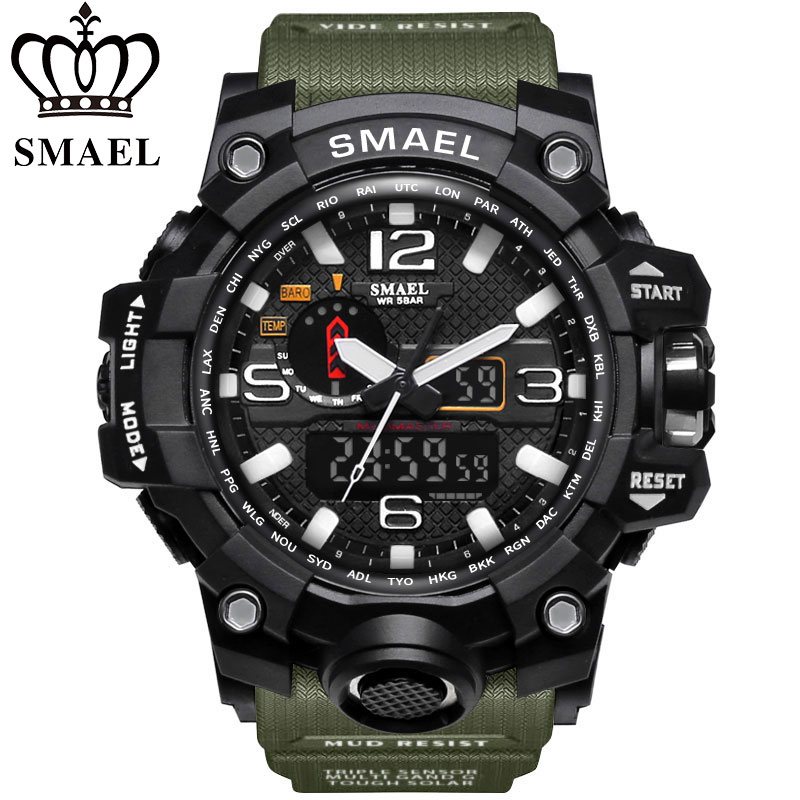 SMAEL Watch Men Army-Wristwatches G-Style Military Sport Wateproof-S-Shock Luxury Top-Brand