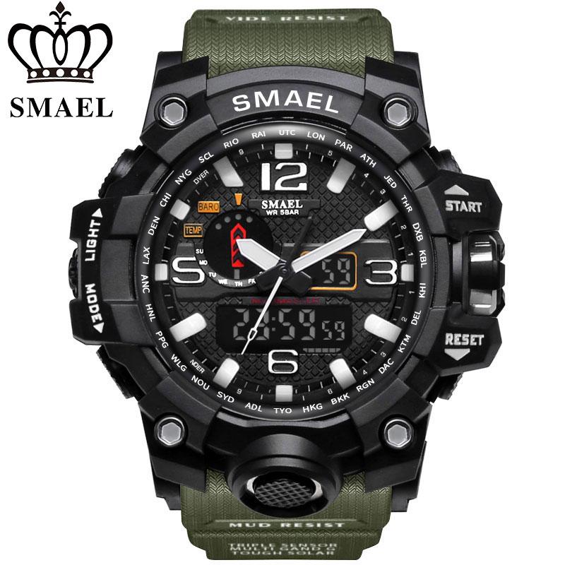 Neue SMAEL Uhr Männer G Stil Wateproof S Shock Sport Herren Uhren Top Brand Luxus LED Digital-uhr Military armee Armbanduhren