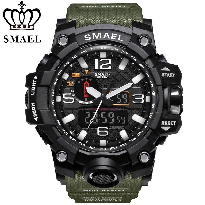 Novos Homens Relógio G Estilo Wateproof SMAEL S Choque Esporte Mens Relógios Top Marca de Luxo LED Digital-relógio Militar relógios de Pulso do exército