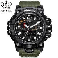Nowy zegarek SMAEL mężczyźni G styl Wateproof S Shock Sport męskie zegarki Top marka luksusowe LED cyfrowy zegarek wojskowy armia zegarki na rękę w Zegarki cyfrowe od Zegarki na