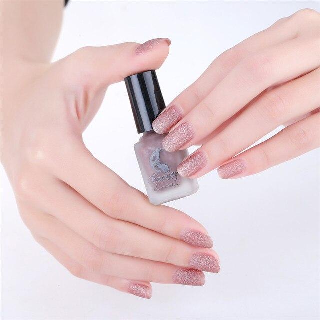 Craney 8 Color 6ml Mirror Nail Polish Scrub Bottles Matte Women