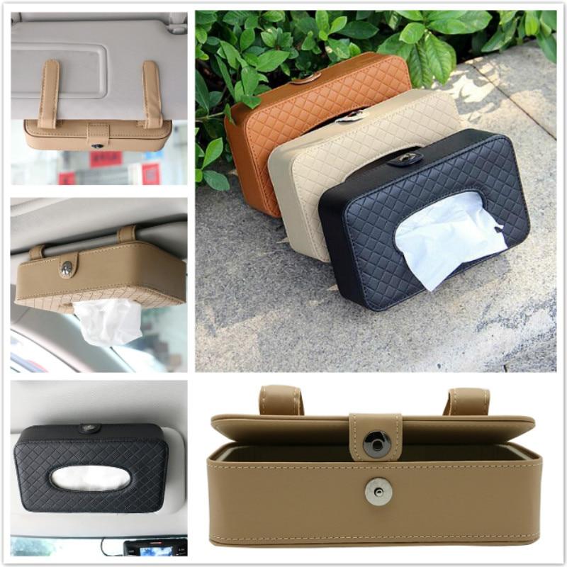 1pc Car Sun Visor Type Tissue Box For Lada Niva Kalina Priora Granta Largus Vaz Samara Sedan Sport Vesta X-Ray XRay Car styling