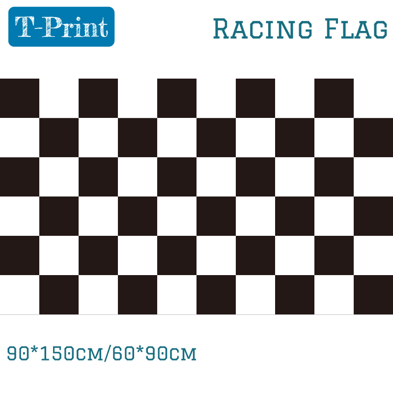 New Fashion <font><b>90*150</b></font> cm F1 Racing Checkered Flag Banner Outdoor Indoor Home Decor image