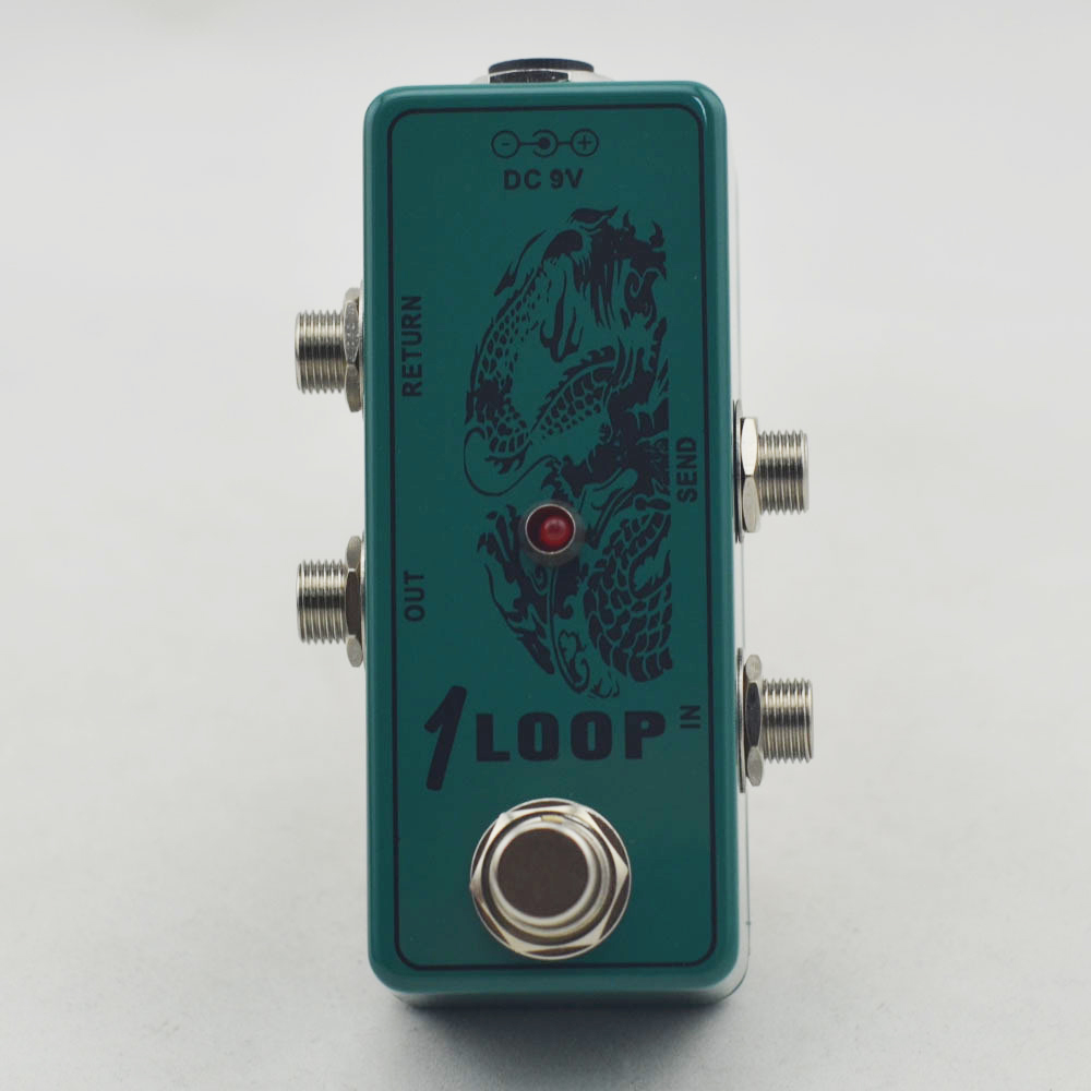 True-Bypass Looper Effect Pedal Guitar Effect Pedal Looper Switch  true bypass guitar pedal Mini Dark green Loop switch mooer ensemble queen bass chorus effect pedal mini guitar effects true bypass with free connector and footswitch topper