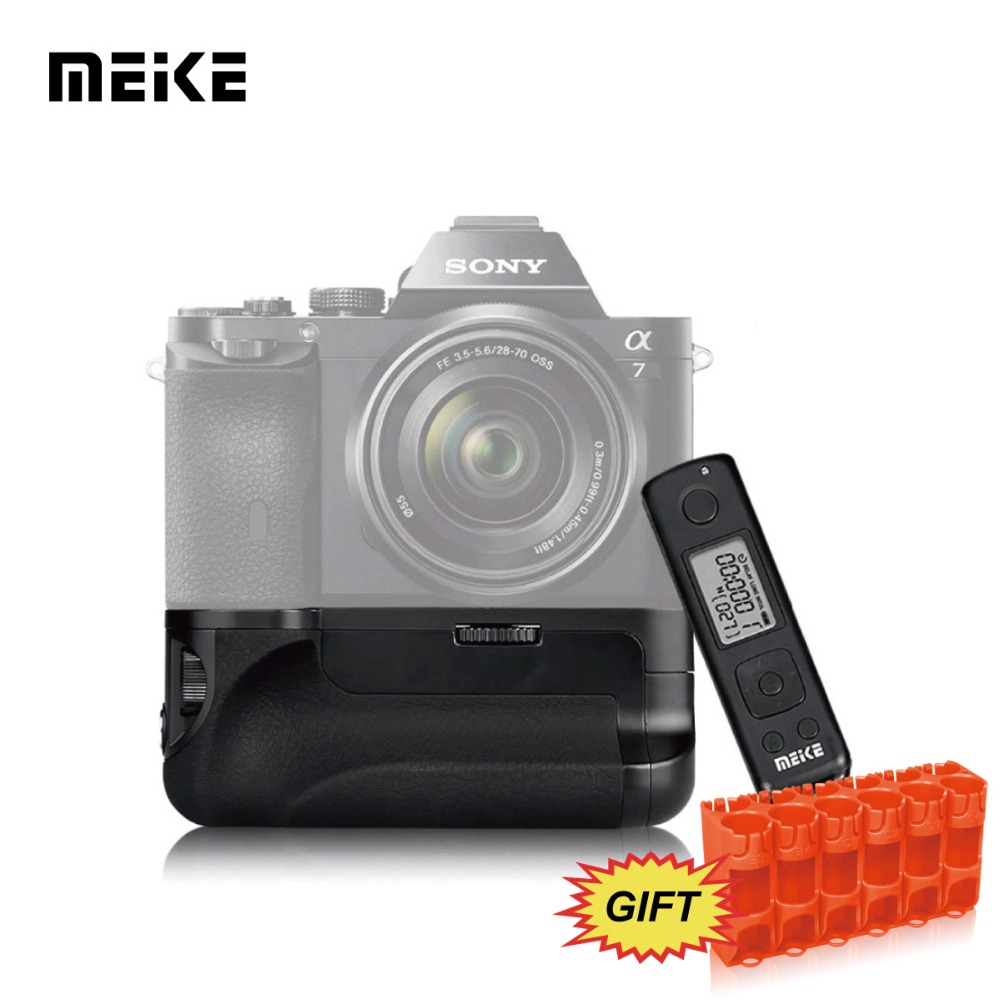 MEKE Meike Mk-ar7 Built-in 2.4g Wireless Remote Control Battery Grip for Sony A7 A7r A7s+GIFT Battery Caddy meike mk 760d pro built in 2 4g wireless control battery grip suit for canon 750d 760d as bg e18