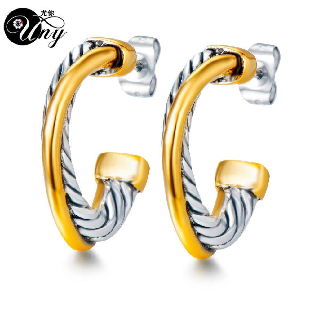 UNY Ohrring Designer Inspiriert David Ohrringe Post Kabel Draht ...