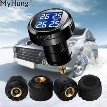 TPMS Car Tyre Pressure Monitor System 4 External Sensor Cigarette Lighter Tire Pressures Alarm Auto Universal Car-Styling