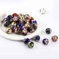 12MM Mixed Assorted Cloisonne Charms Beads Carve Flower Filigree Cloisonne Beads Fit Diy Bead 100pcs/lot D0321