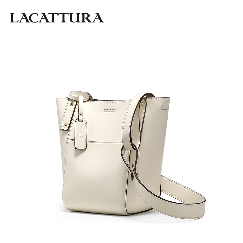 LACATTURA Women Leather Bucket Bags Designer Fashion Tote Bag Women Composite Handbag Luxury Shoulder Bags Crossbody for Lady namvitae 2pcs set women tote bag pu leather composite bag luxury brand women bucket handbag fashion colorful strap shoulder bags page 1