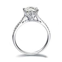 YHAMNI original Jewelry 925 Silver Ring Inlay 6MM 1 Carat Zircon Stone CZ Diamant Engagement Wedding Rings for Bride Women AR009