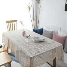 Home textile garden hand crochet towel cotton the table cloth woven tablecloth openwork piano