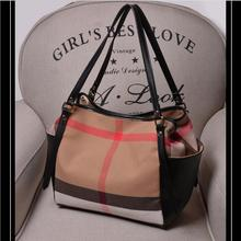 2016 New Canvas Plaid bag Women Handbag High quality Fashion Bucket Bag Famous Designers Brand handbags Women Messenger Bags