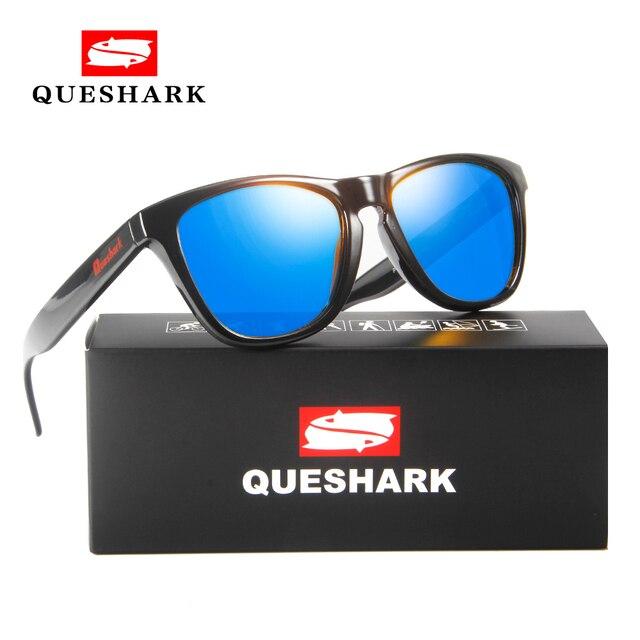 797e5e790efd2 QUESHARK Polarizados Caminhadas Camping Viagens De Pesca De Proteção Uv  Óculos de sol óculos de Sol