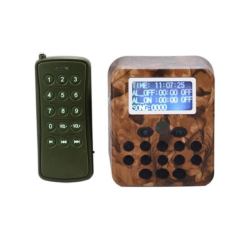 Extérieur chasse leurre oiseaux appelant lecteur MP3 oiseau son appelant avec télécommande 50 W haut-parleur 150dB oiseau amplificateur