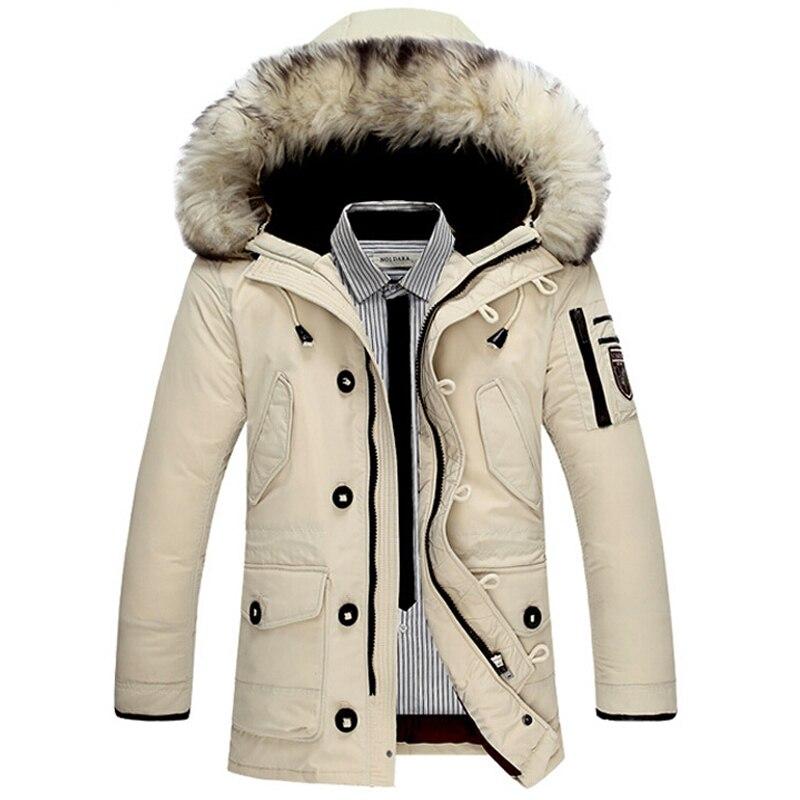 Brand New Men Warm Down Parkas Fur Hooded Caots Man Winter Long Fashion Jackets Plus Size 3XL Down Jacket Jaqueta Masculino