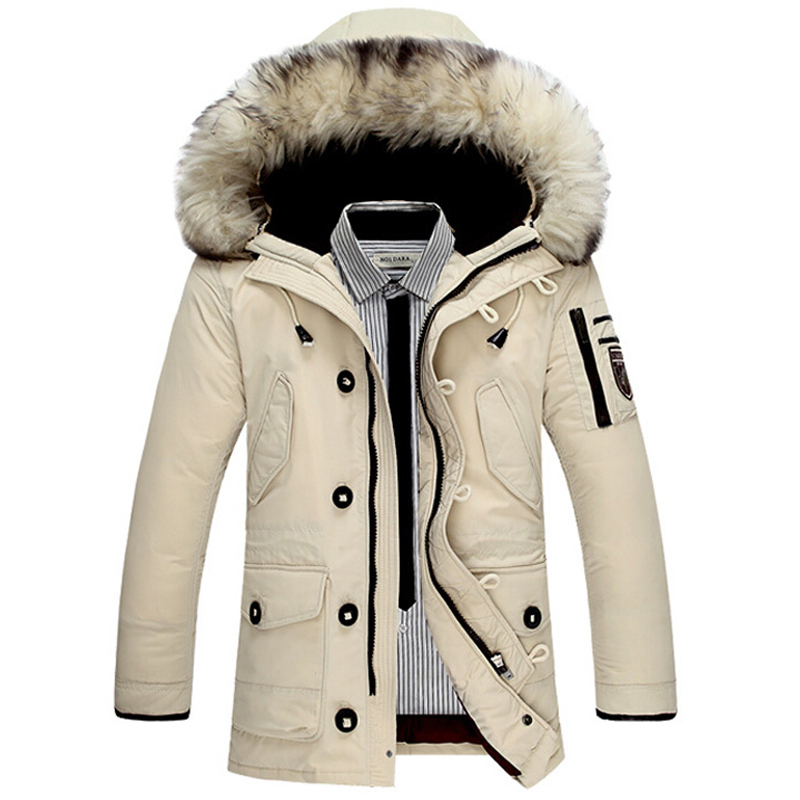 Brand New Men Warm Down Parkas Fur Hooded Caots Man Winter Long Fashion <font><b>Jackets</b></font> Plus Size 3XL Down <font><b>Jacket</b></font> Jaqueta Masculino