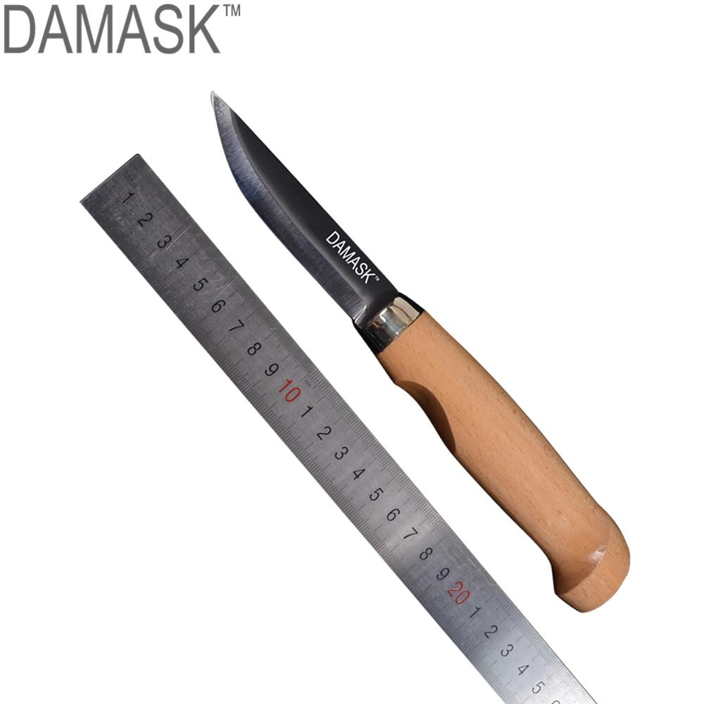 Дамаск острое лезвие открытый рыболовный нож Тактический кемпинг охотничий нож выживания 5Cr13 деревянной ручкой фиксированным лезвием ножи с оболочкой