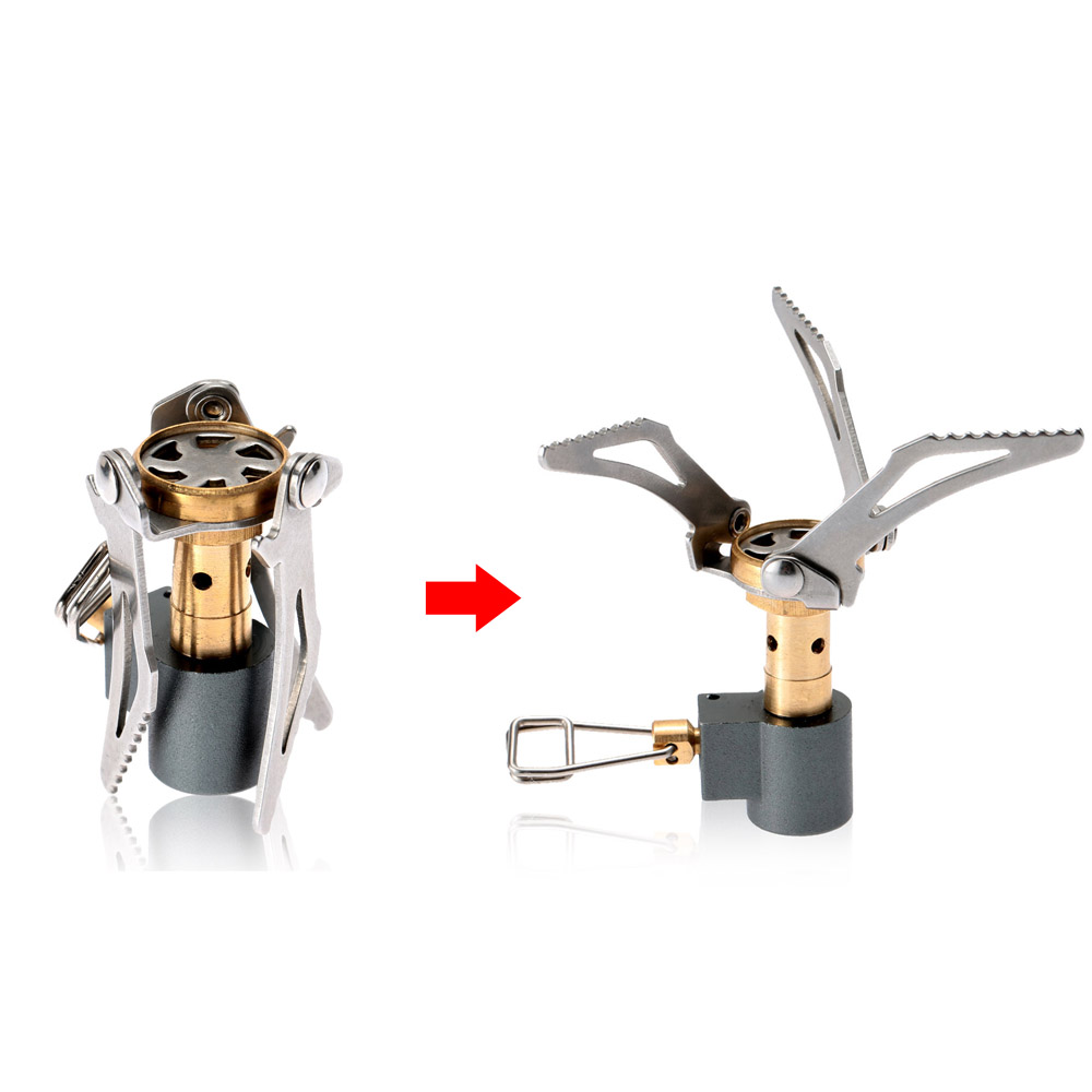 45 Easy Camping Recipes: 2Pcs 45g Lightweight Folding Mini Camping Stove Outdoor