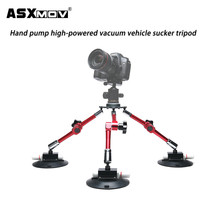 aluminium alloy strong hand pump car suction cup camera mount holder video tripod for gopro for all dslr camera camcorder