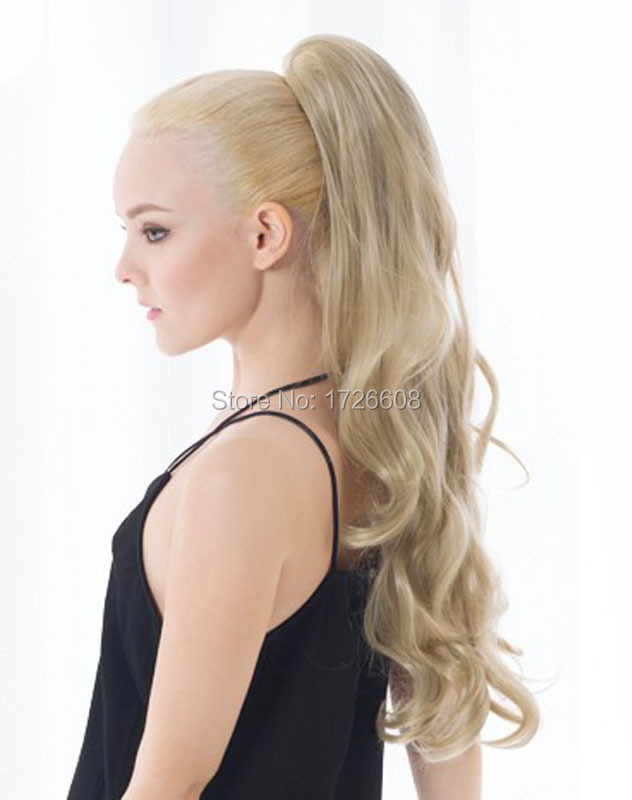 Summer brand ponytail womens glamour long curly wavy blonde summer brand ponytail womens glamour long curly wavy blonde ponytails hair extensions party hair wear claw clip in pony tails on aliexpress alibaba pmusecretfo Images