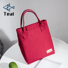 Double layer thick lunch bag mother Mummy portable green foil insulation fabric large waterproof Oxford cloth