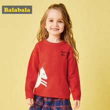 Balabala autunm Pullovers for a girl toddler girl sweater kids clothes children clothing sweater girls clothes knitted jumper(China)