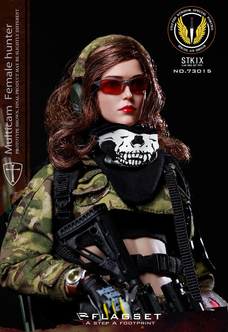"collection 1/6 Scale FS-73015 MC War angel Camouflage Angela w body head and clothing set 12"" Full Set Action Figure toy gift 1"