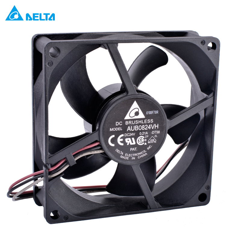 Original Delta AUB0824VH 8025 DC24V 8cm large amount of industrial control inverter cooling fan
