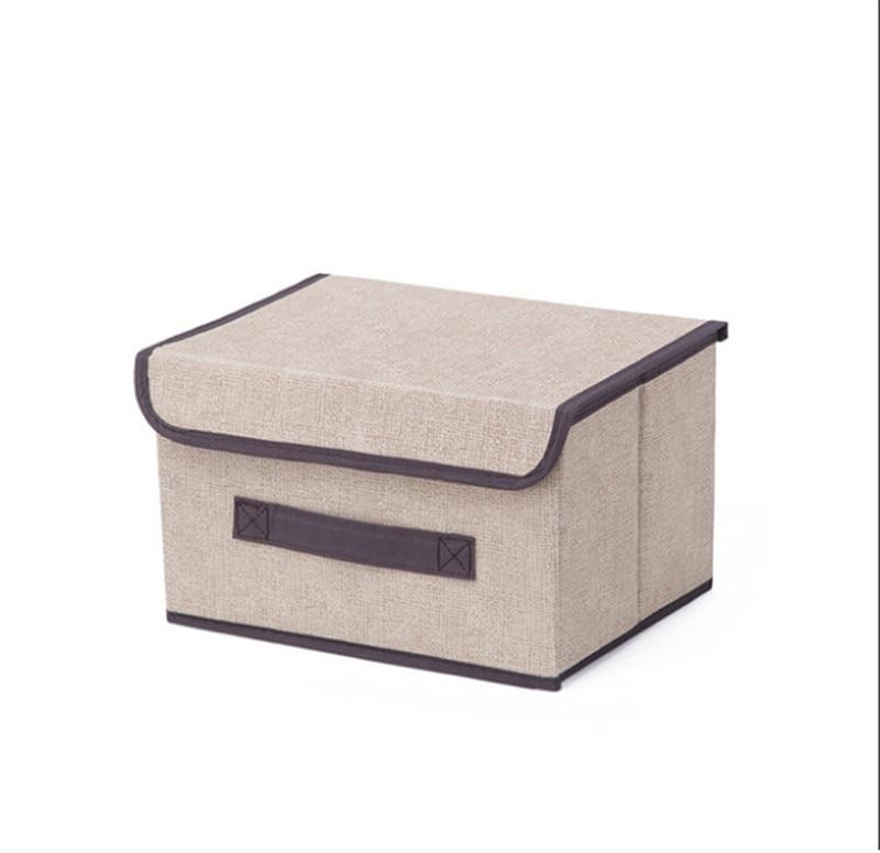 Набор ящиков для хранения, складной кубик для хранения с крышками и ручками тканевая корзина для хранения Контейнер складной Органайзер Ящ...