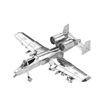 2017 HK Nan yuan 3D Metal Puzzle A-10 attack air craft DIY Laser Cut Puzzles Jigsaw Model For Adult Child Kids Educational Toys 3d metal puzzles for children adult model kids toys for children jigsaw star wars c3po metal puzzle educational toys gifts