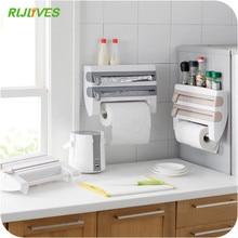 Keuken Organizer Vershoudfolie Saus Fles Opbergrek Tin Folie Papier Handdoek Houder Keuken Plank Plastic Wrap Snijden