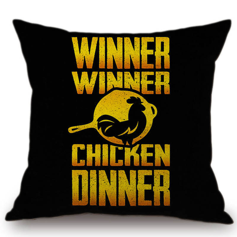 PUBG Letter Print Black Chicken Dinner Video Game Home