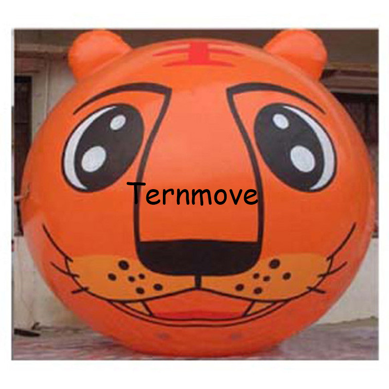 giant inflatable balloon PVC advertising inflatable tiger inflatable animal head big cartoon helium balloon