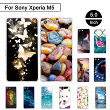 Painted Case For Sony Xperia M5 E5603 E5606 E5653 Back Phone Cover For Sony Xperia m5 Soft TPU Cases Shells For Sony Xperia M 5
