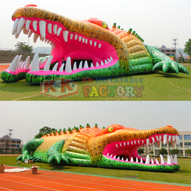 Custom inflatable Tent  giant inflatable crocodile tent KK factory outdoor huge inflatable tent Toy Tents Toys & Hobbies - title=
