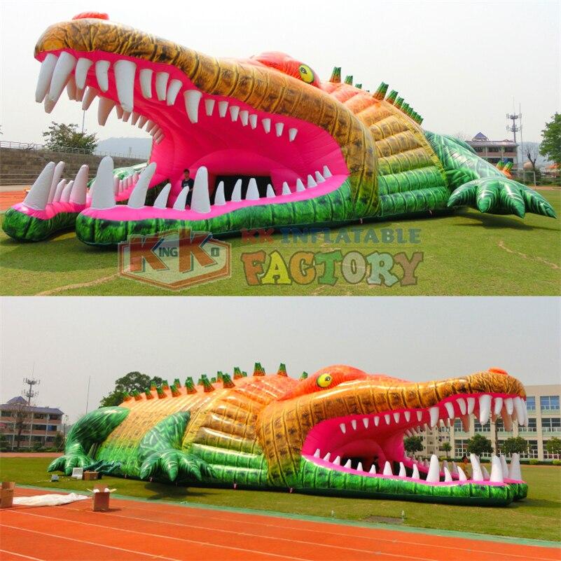Custom inflatable Tent, giant inflatable crocodile tent,KK